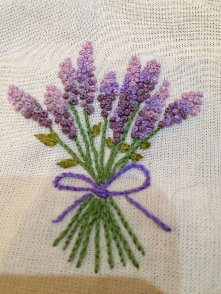 lavander embroidery