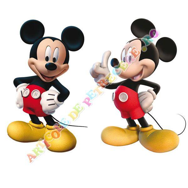 Set de 2 figurine Mickey 30 cm - Articole Petrecere Mickey Mouse Party - Accesorii Petrecere Set de 2 figurine Mickey 30 cm