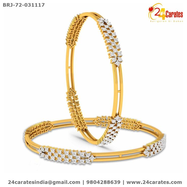 1cd19ea56f Presenting the prettiest bangles set ever! A hand carved statement gold and  diamond work define