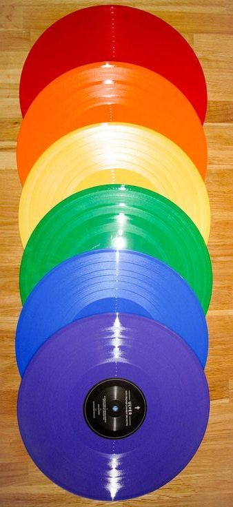 It was so exciting in music class when the teacher pulled out the colored records!