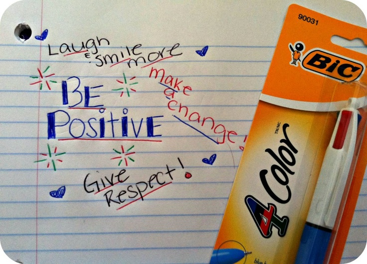 """I received a BIC® 4-Color™ Pen for free from Smiley360 and I LOVE it! Here are my New Years Resolutions!"" - Darci"