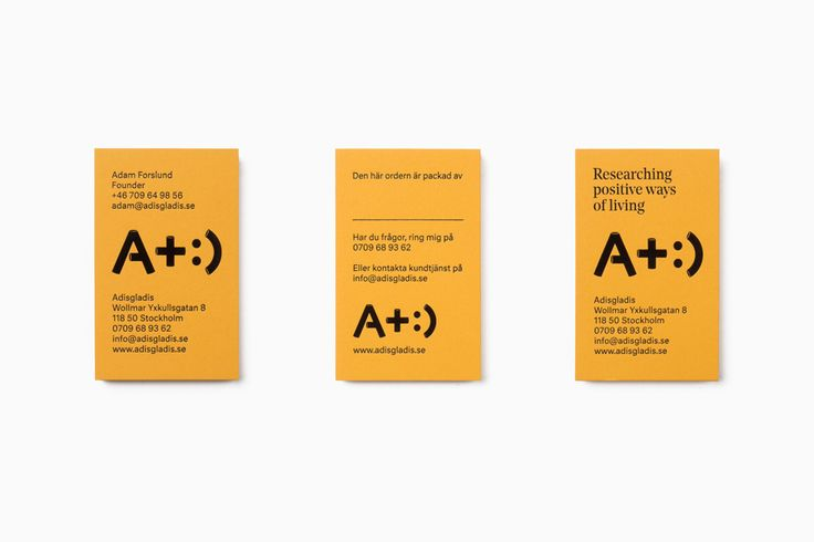 Yellow business cards for clothing and gadget retailer Adisgladis designed by Bedow