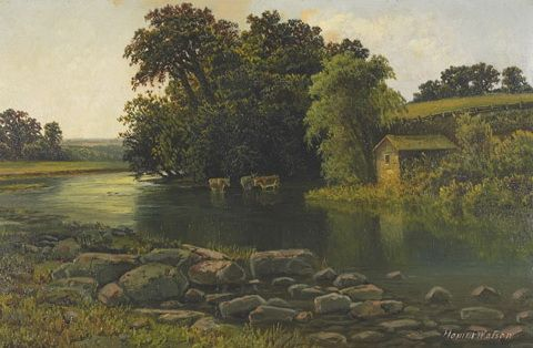 Homer Watson (1855-1936), Grand River Valley - born in Doon, ON, a self-taught painter and one of Canada's greatest artists