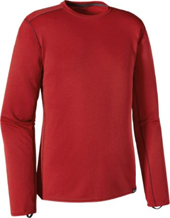 Patagonia Men's Capilene Midweight Long Underwear Crew Top Classic Red/French Red X-Dye XXL