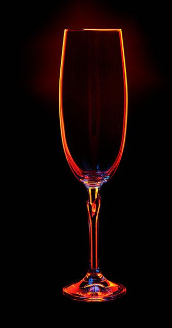 Champagne glass in orange light; it stands out. could serve the smoothies ion orange light