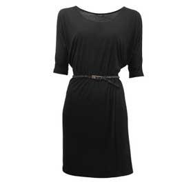 belted dress  black  size: 32-44