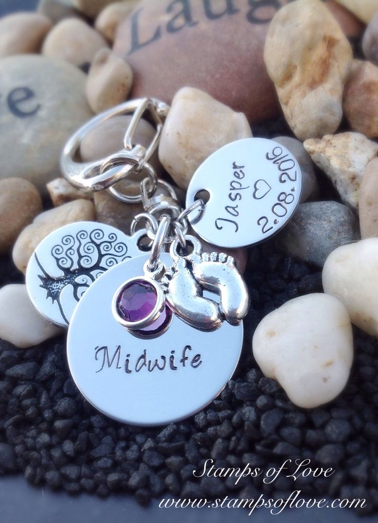 Personalized Midwife thank you gift. Midwife jewelry. Necklace or Keychain  A personal favorite from my Etsy shop https://www.etsy.com/listing/241714709/personalized-midwife-thank-you-gift