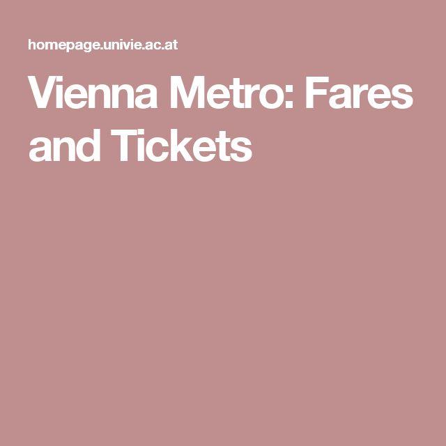 Vienna Metro: Fares and Tickets