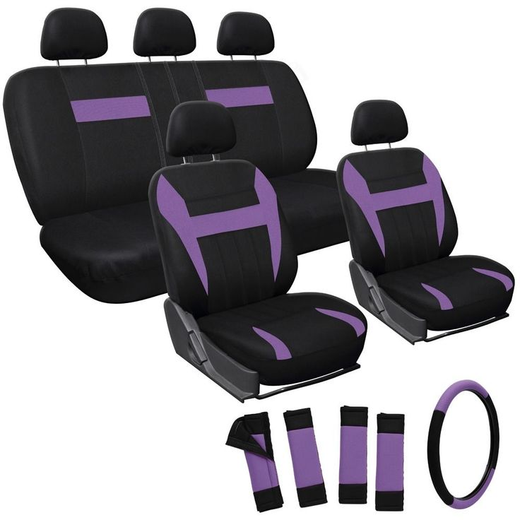 Oxgord Purple 17-piece Car Seat Cover Automotive Set - Overstock Shopping - Big Discounts on Car Seat Covers