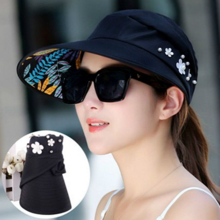 8870b65fa Sun Hat Cap Hot Women Lady Girl Beach Medium Brim summer Foldable ...