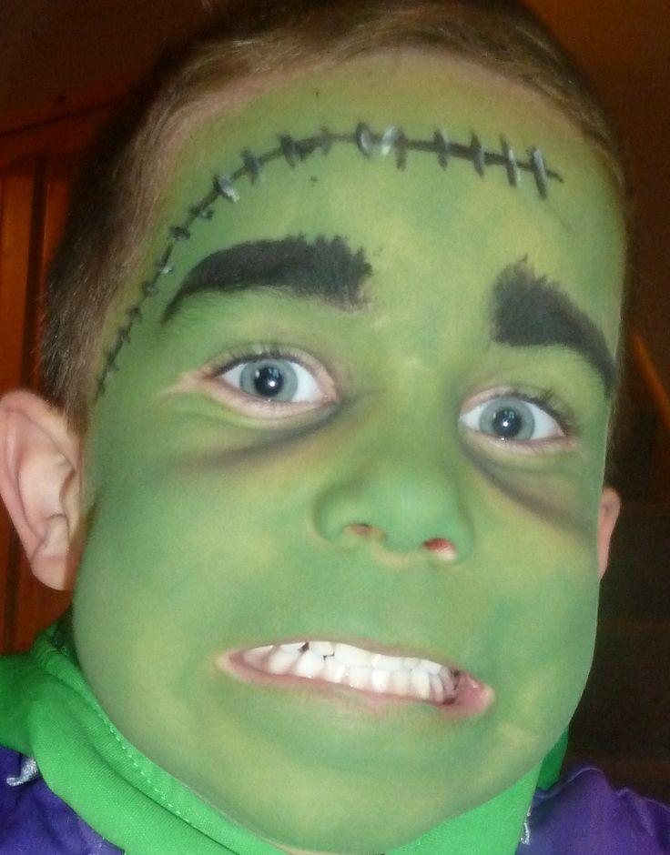 frankenstein face paint - halloween
