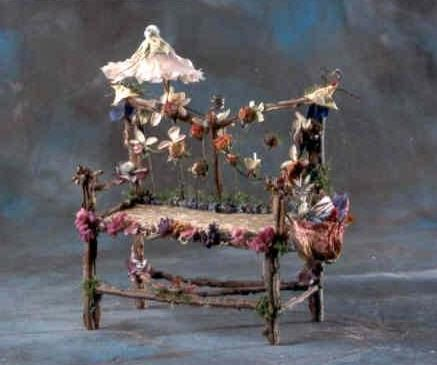 "Photo Card of Fairy Furniture, ""Afternoon at the Opera Loveseat"".  Etsy."