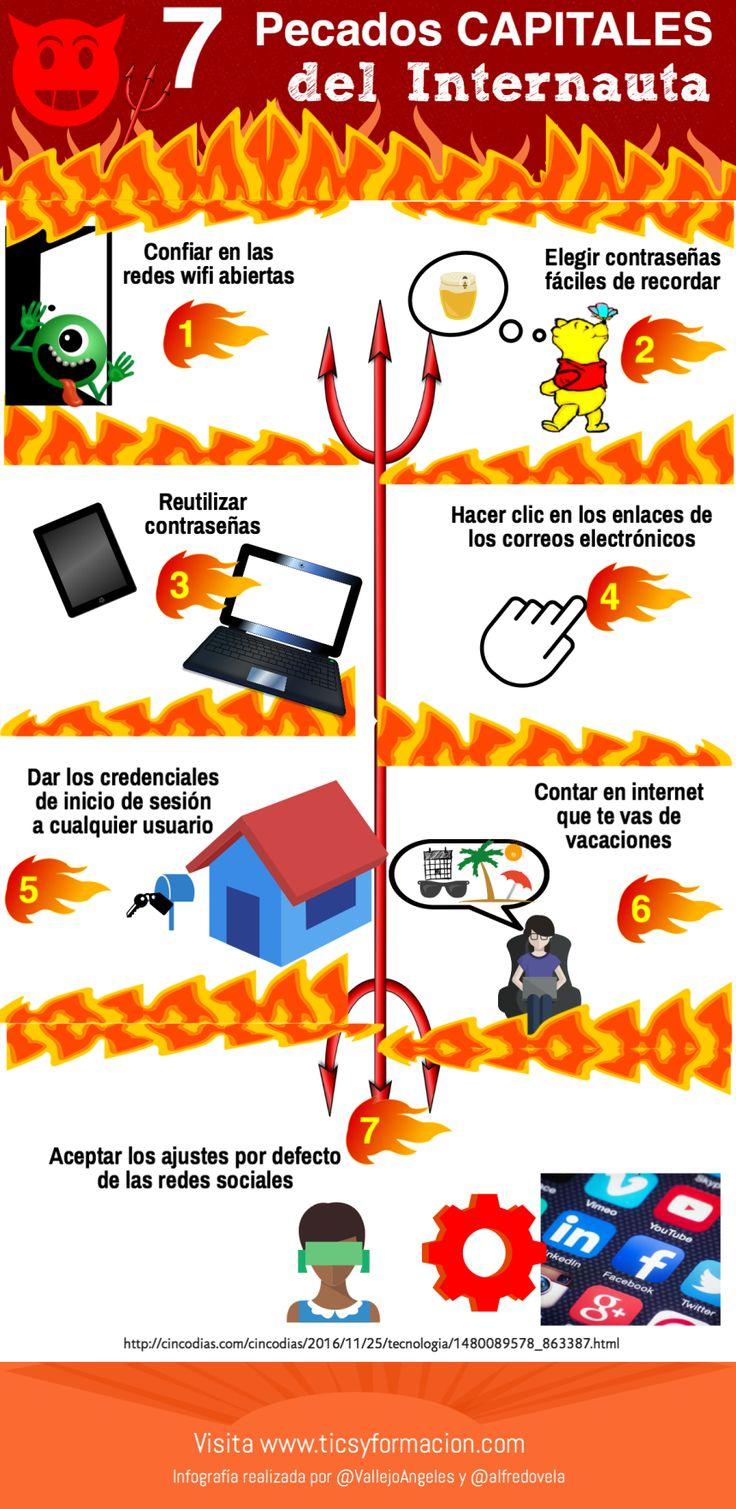 7 pecados capitales del internauta #infografia