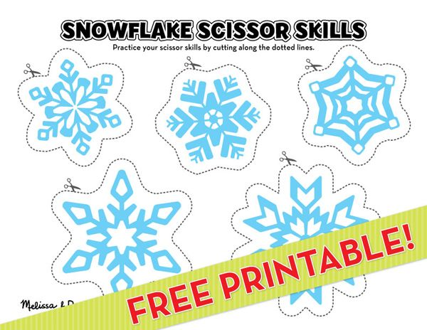 free snowflake printables