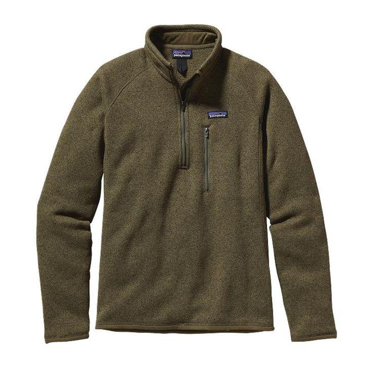 Patagonia Men\'s Better Sweater\u00AE Fleece 1/4-Zip - Fatigue Green w/Fatigue  Green FTGF