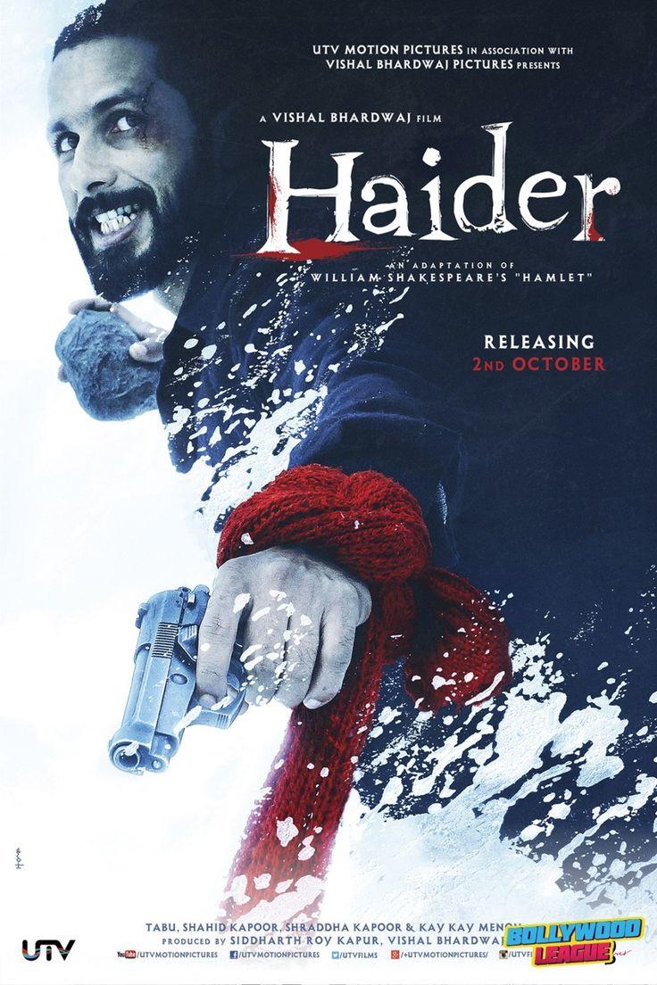 Haider   Movie Poster   Shahid Kapoor. Website - http://bollywoodleague.com