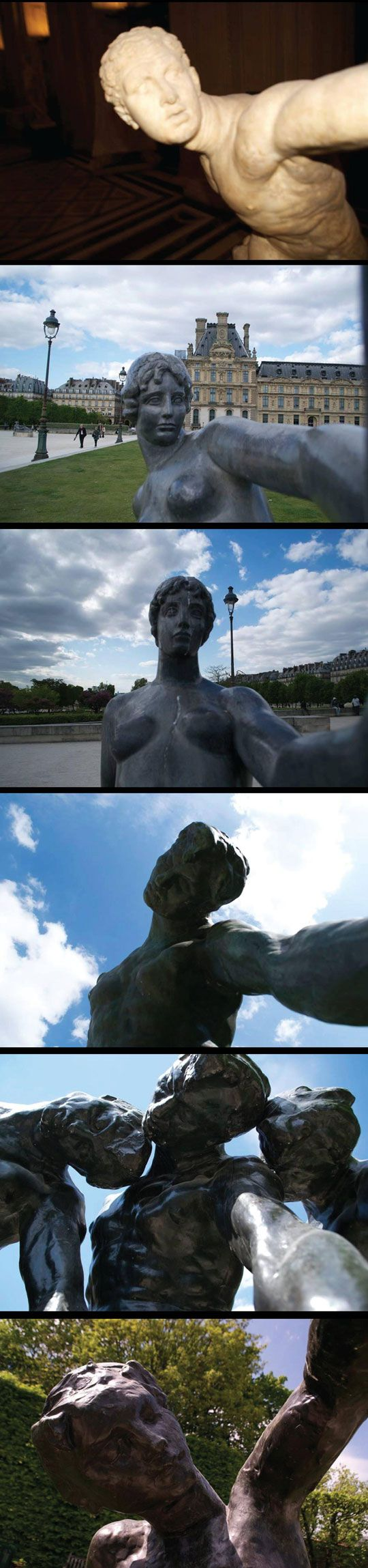 """Weeping Angel selfies. """"Dude, stop blinking at the camera!"""" """"I can't help it! The people never blink and its getting to me!"""""""