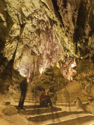 Inside the Caves D'Arta, Llevant, Mallorca, Balearic Islands, Spain,