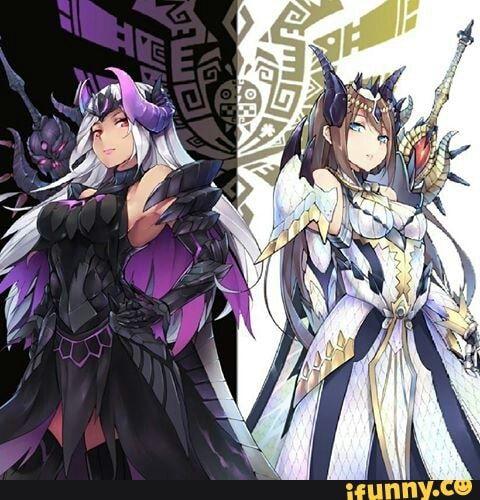 Monster Hunter Gore Magala and Shagaru Magala Girl