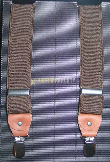 Pánske traky hnedé hladké, tvar X