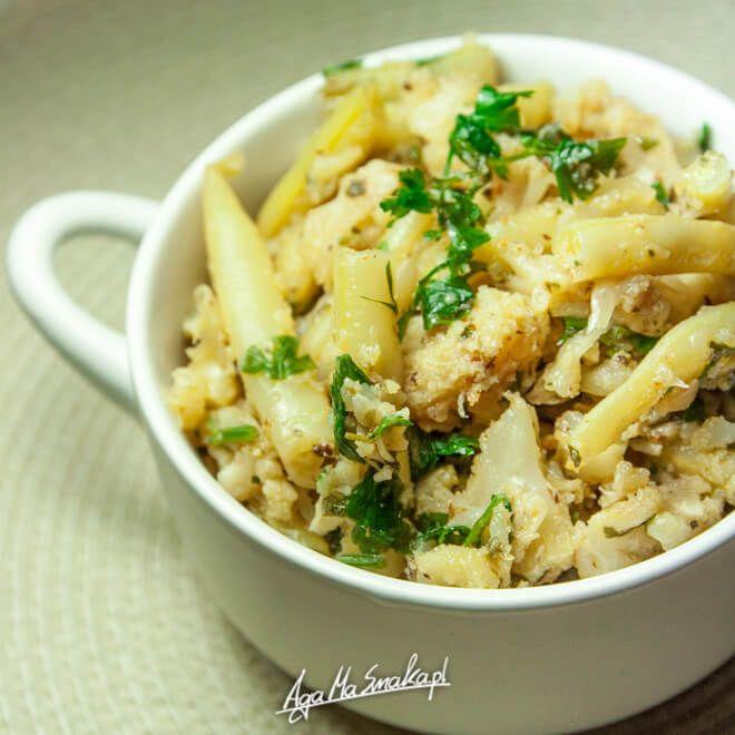 Duszony kalafior i fasolka szparagowa - idealny dodatek do ryżu, kasz i makaronu ⋆ AgaMaSmaka - żyj i jedz zdrowo!