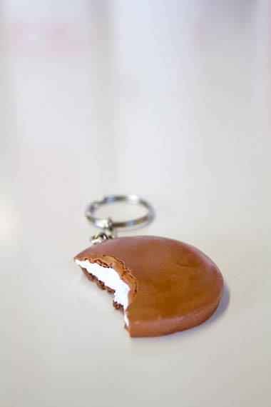 MINT SLICE KEY RING