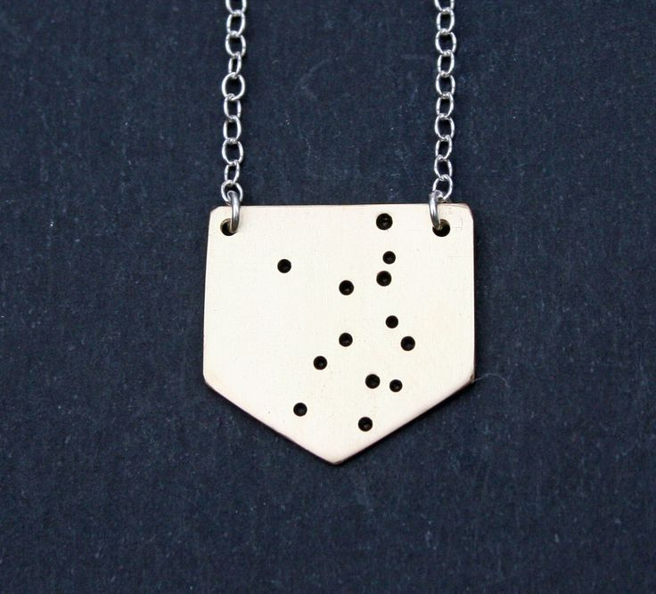 Virgo Star Sign Constellation Necklace in Brass or Sterling Silver by OhSomeday on Etsy https://www.etsy.com/listing/116550352/virgo-star-sign-constellation-necklace