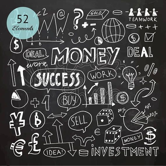 Hand Drawn Chalkboard Business Infographic Money Sign Currency Symbols Sell Buy Clipart Chalk Doodle Collection Eps Png Instant Download In 2021 How To Draw Hands Money Sign Business Infographic