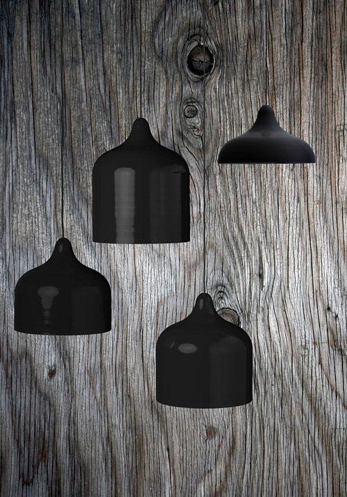 Lamp suspensions noires black