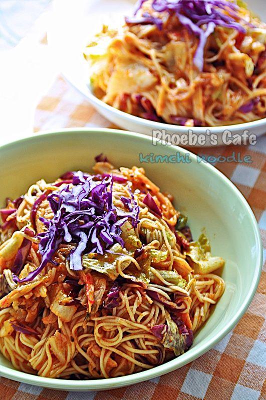 韓国キムチビビン素麺レシピ,麺料理、和え麺、韓国料理、簡単料理、キムチ、夏の料理、