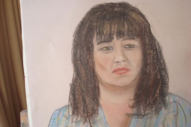 Jeanette pastel painting