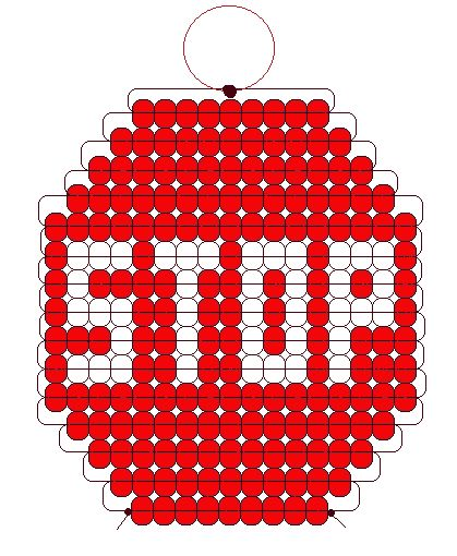 Stop sign pony beads pattern its so adorable!