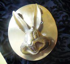 Rare Vintange Bugs Bunny Warner Bros WB Store Brass Door Knocker Collector Item
