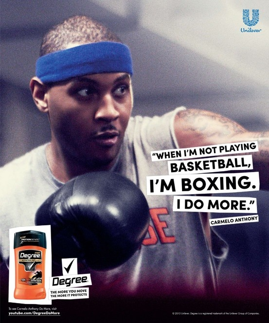 Degree 2013 Do More Ad Featuring Carmelo Anthony