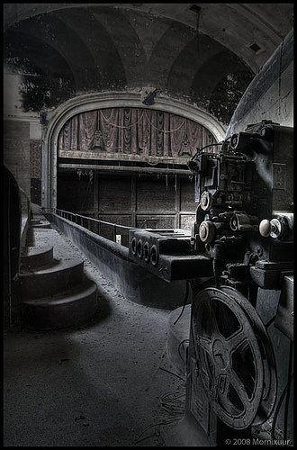 Abandoned movie theatre