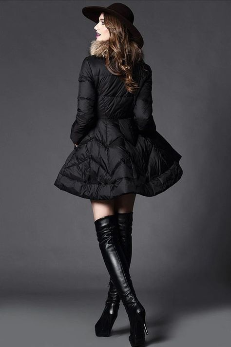 Doresuwe.com SUPPLIES 欧米セレブ愛用新品 2015冬大物Aラインダウンコート ファッショントレンド (9)