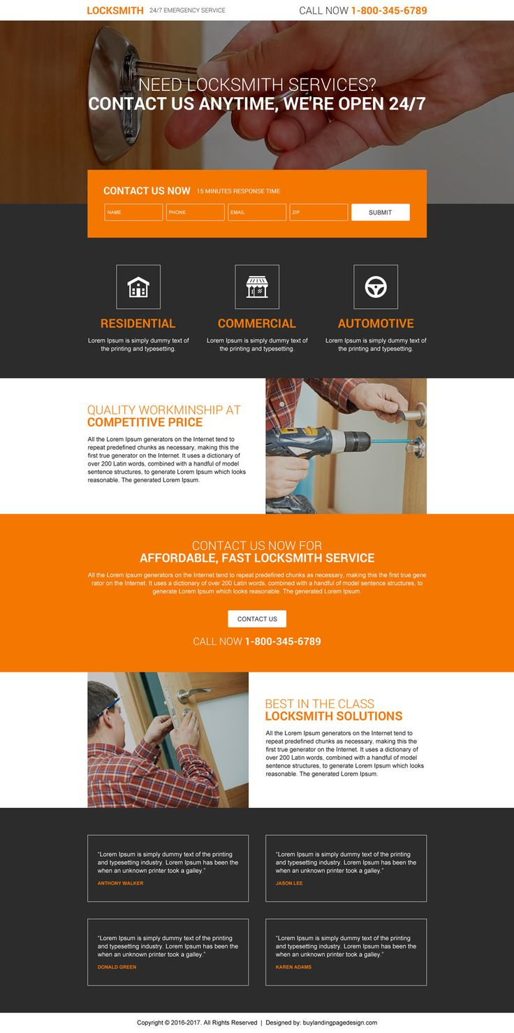 Locksmith service lead form premium landing page design If you offer locksmith services to your clients then you can expand and promote your business online at a very affordable prices by using our…