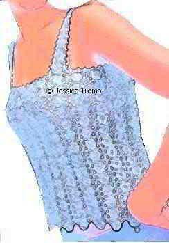 Pretty crochet tank top shirt gratis haakpatronen, leuke zomerkleding van gehaakte bloemen of vierkantjes haken