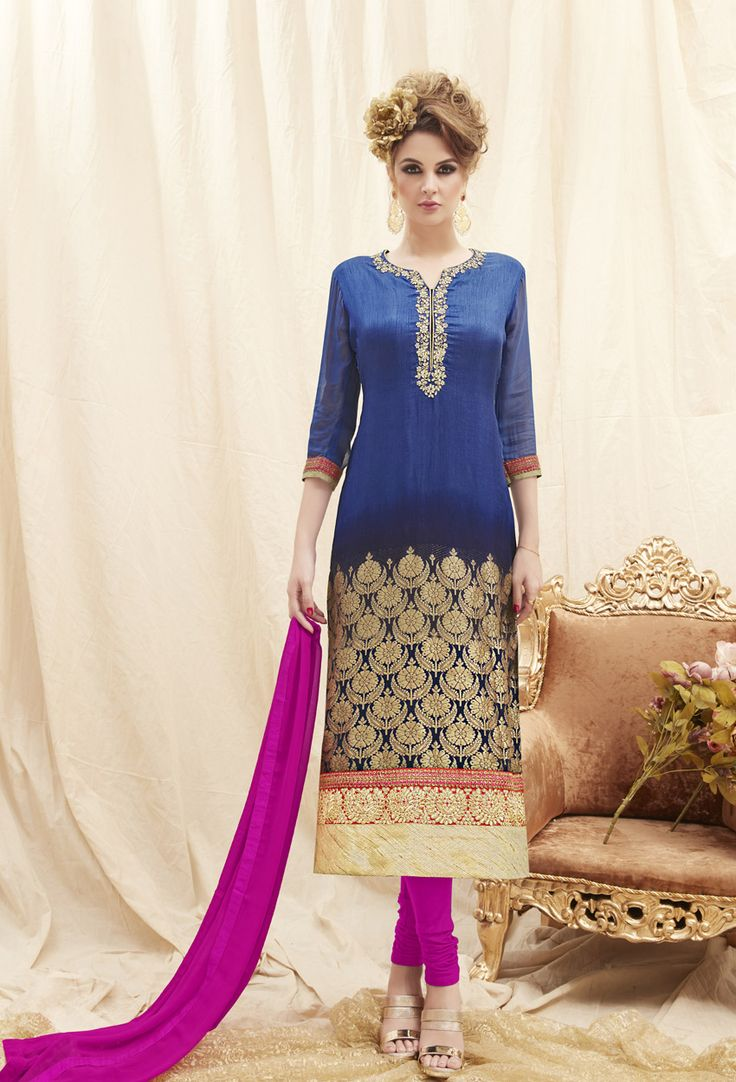 #Blue #Chennai #Silk #Shalwar #Kameez #nikvik  #usa #designer #australia #canada #freeshipping #ceremonial #pakistani