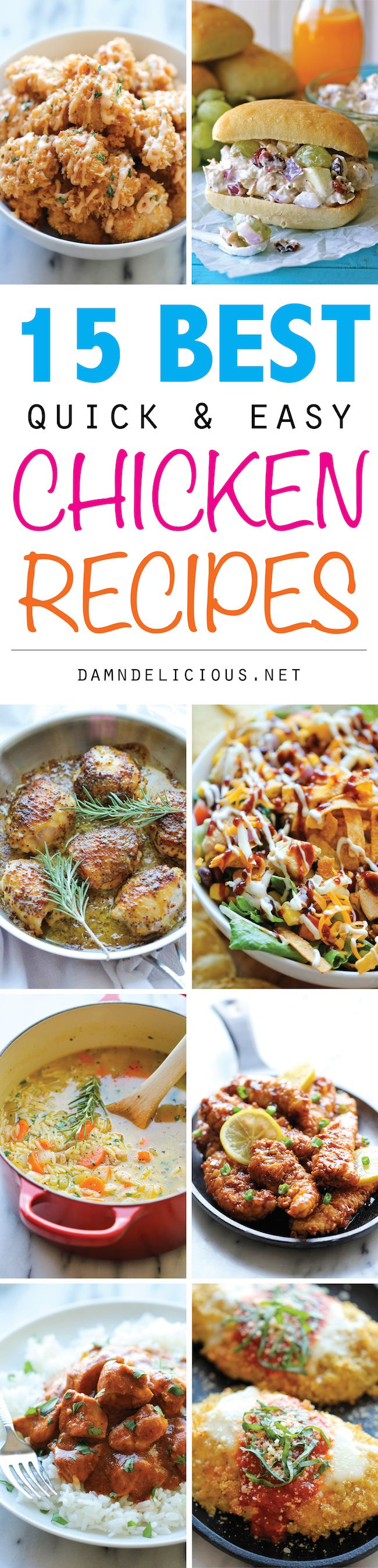 15 Best Quick and Easy Chicken Recipes - The ultimate guide to quick, easy and budget-friendly chicken recipes - a must for those busy weeknights!