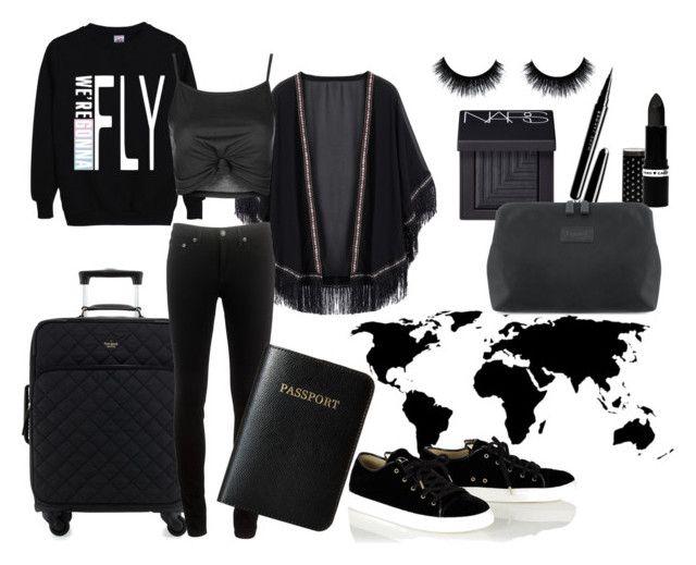"""All black"" by gde-2001 on Polyvore featuring Hard Candy, Kate Spade, rag & bone, Vera Bradley, Bambam, NARS Cosmetics, Topshop, Marc Jacobs en Lipault"