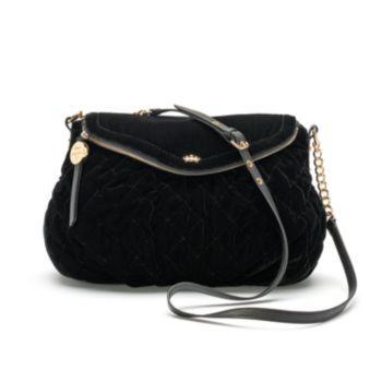 Juicy Couture Quilted Velvet Mini Traveler Crossbody Bag