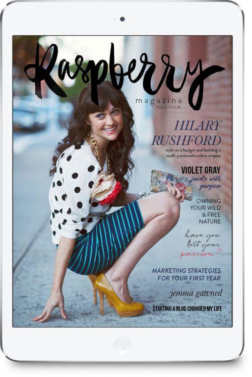 Raspberry Magazine Issue Four - Hilary Rushford on the cover!