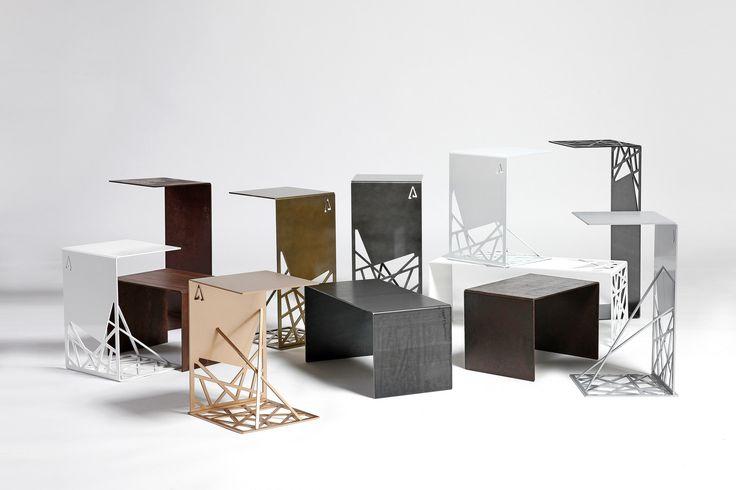 #steel #stool #gold #silver #white #rust #design #furniture #harrierdesign