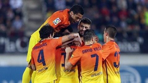 FC Barcelona, celebración. | Mallorca 2-4 FC Barcelona. 11.11.12.