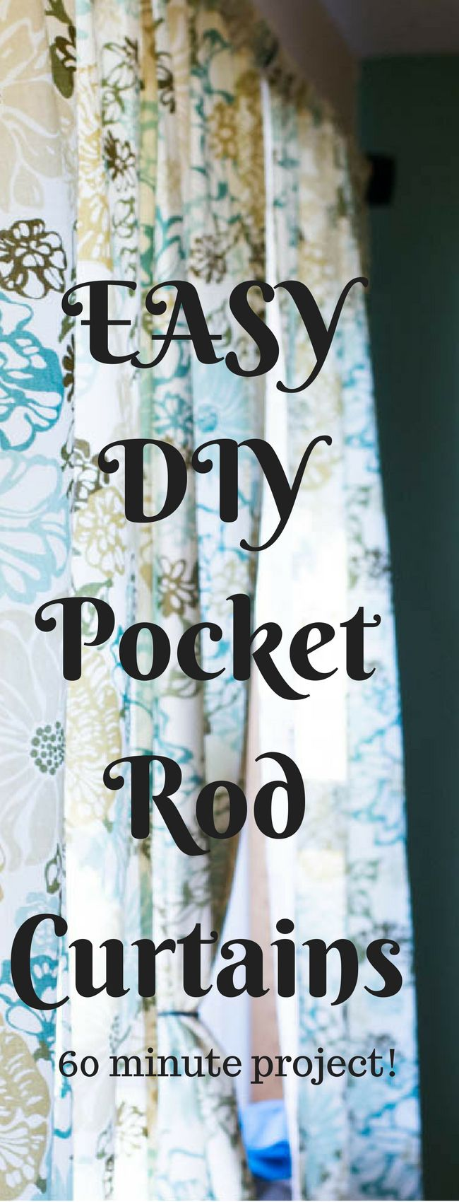 It doesn't have to be hard to make your own curtains - here is an easy DIY curtains tutorial (this is specifically for rod curtains). It can be an affordable option for updating the look of any room!