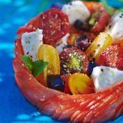 Tomates mozzarella - une recette Italien - Cuisine