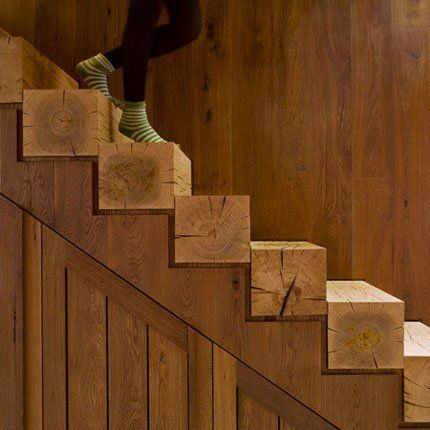 Escalier naturel brut