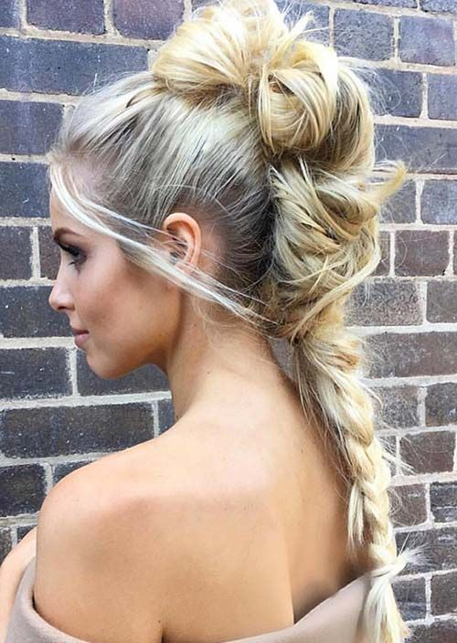 hair up plait styles 1000 ideas about mohawk hairstyles for on 5366