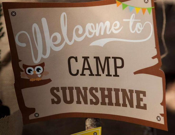 "Summer ""Camp Sunshine Camping Party"" 